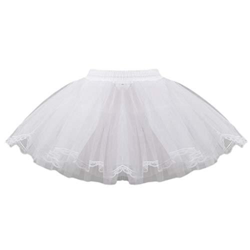 HEYLULU Hard Net Lace Vestido de Novia para Novia Enagua Niños Mujeres...