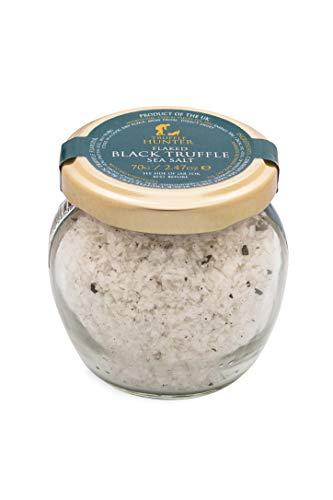 TruffleHunter Real Flaked Black Truffle Cornish Sea Salt (2.47 Oz) - European Black Summer Truffles (Tuber Aestivum) - Gourmet Food Seasoning Cooking Condiments - Gluten Free, Vegan, Vegetarian