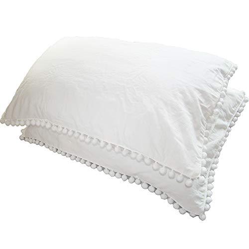 Rayroger Pom Pom Fringe Pillowca...