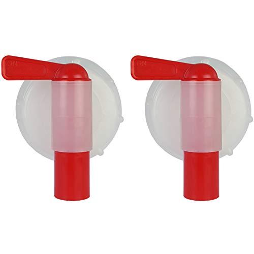 Grifo Dispensador para Garrafa, Bidón o Jerrican de 10, 15 y 25 L, DIN60-61. Diámetro exterior rosca 59-61 mm. (2 Unidades)