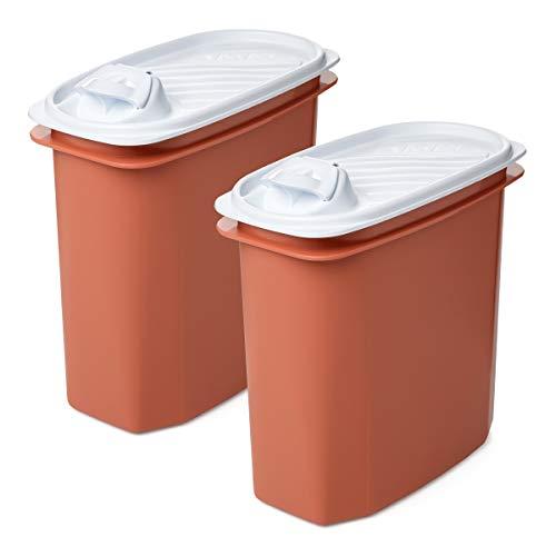 TATAY Lote de 2 Tapers Vertedores Multiusos de 2 Litros de Capacidad (Blanco y Naranja)