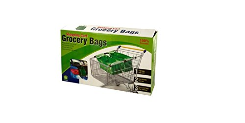 Reusable Shopping Cart Grocery Bag with Cart Clips