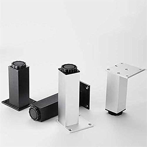 PrittUHU 4 unids aleación de Aluminio gabinete Ajustable Muebles sofá Mesa de Mesa de Mesa Patas de pie pies Altura (50-300mm) Ancho x38mm con Tornillos de Montaje (Color : White 15cm)