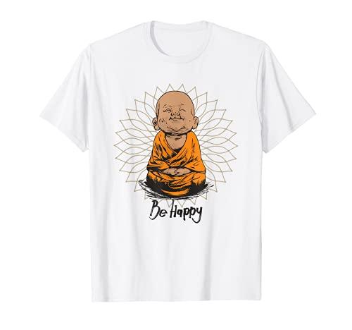 Be Happy shirt Zen Little baby Buddha tshirt Mandala T gift T-Shirt