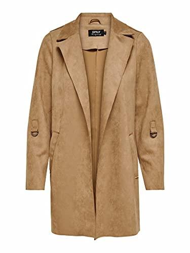 ONLY Damen ONLJOLINE Faux Suede Coat CC OTW Kunstlederjacke, Toasted Coconut, S