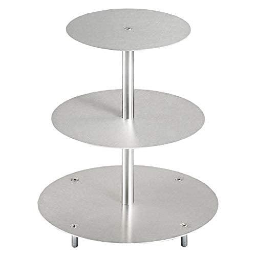 Tortenständer Rund Tortenetagere Aluminium 3 Etagen, Hochzeitstortenständer Etagere Ø 20-25 - 30 cm