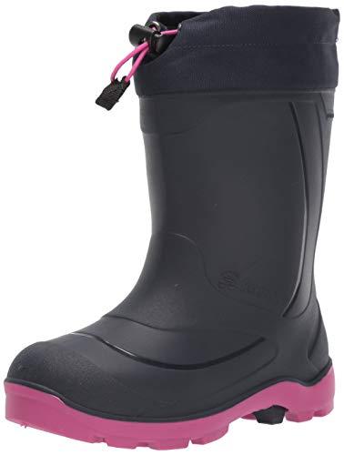 Kamik Girls Snobuster1 Snow Boot, Navy/Magenta, 2 Little Kid