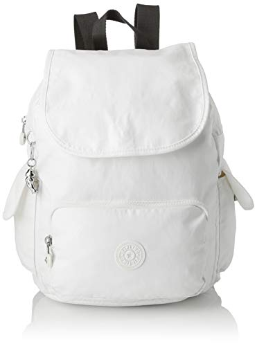 Kipling Damen City Pack S Rucksack Weiß (White Metallic)