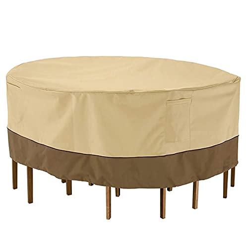 YINAIER Cubierta de Mesa para Muebles de jardín y Patio, Cubierta de Mesa Redonda y Silla, Cubierta de Tela Oxford para Muebles de jardín, Cubierta Antipolvo Impermeable(Size:239 * 58cm)