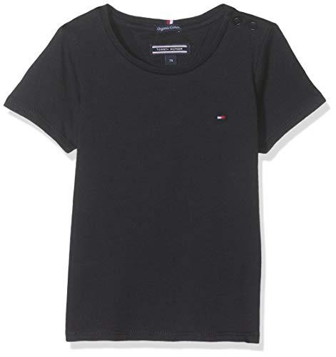 Tommy Hilfiger Mädchen Girls Basic Cn Knit S/S Regular Fit T-Shirt, Blau (Sky Captain 420), 164 ( Herstellergröße: 14)