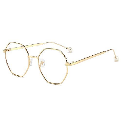 Myopia Brille fertig achteckige Brille Rahmen Persönlichkeit Polygon anti-blau Licht flachen Spiegel