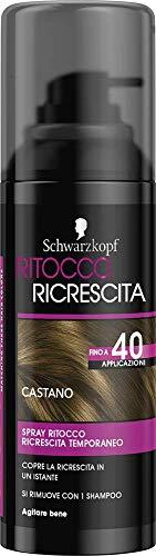 Schwarzkopf Ritocco Ricrescita, Spray Temporaneo per la Ricrescita dei Capelli, Castano, 120ml