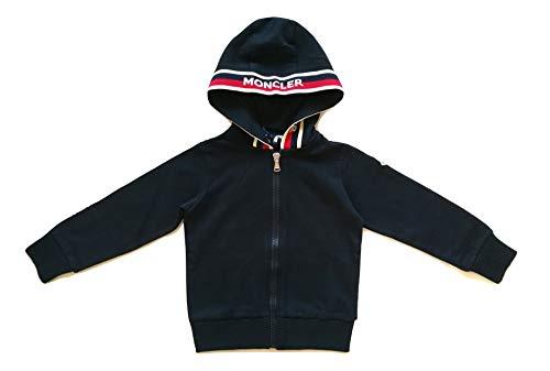 Moncler Junior Sweatshirt mit Kapuze, Full Zip für Kinder, 8415605, Blau, 4 Jahre
