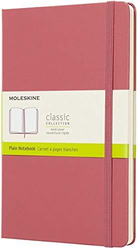 Moleskine Classic Notebook, Taccuino con Pagine Bianche, Copertina Rigida e Chiusura ad Elastico, Formato Large 13 x 21 cm, Colore Rosa Margherita, 240 Pagine