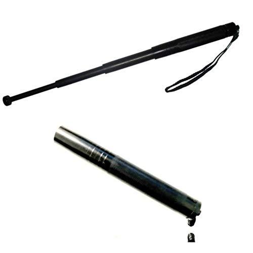 MANGANELLO ESTENSIBILE Utilissimo per autodifesa personale manganello telescopico estensibile in 4 segmenti.Dimensioni: 19.5 cm chiuso 63.5 cm aperto Materiale acciaio
