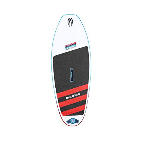 Badfish SUP IRS Inflatable River Surfer Paddle Board 7'6'x33x5 Flex fins, Pump, Bag Included