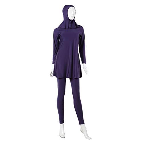 TENDYCOCO moslim islamitische zwembroek volledige lengte lange bescheiden Burkini zwemkleding zwemmen strand dragen voor dames vrouwen vrouw (maat XS zwart)