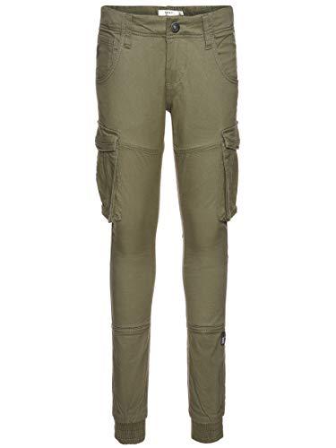 NAME IT Jungen Nitbamgo Reg/R TWI Ca Pant M NMT Noos Hose, Deep Lichen Green, (Herstellergröße:134)
