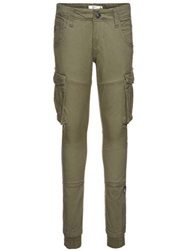 NAME IT Herren Cargohose Regular Fit 164Deep Lichen Green