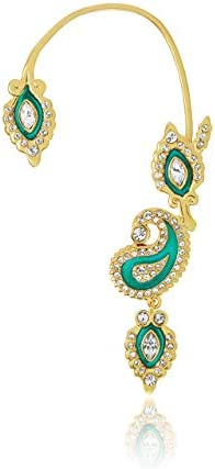Shaze Earring set for Women Gold Coloured Plated Fashionable Cubic Zirconia Stone Marque Paisley product image