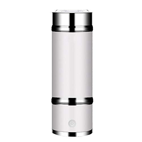 360ML Wasserstoff Wasser Ionisator Flaschenhersteller Business Cup 3 Minuten Entladung Mit Hoher Konzentration Von Ozon Und Chlor Wasserstoffgas-Inhalator Kostenlose Geschenkbox Aus Leder,Weiß