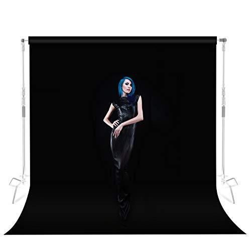 Selens Telón de Fondo 2x3M Fondo Negro de Terciopelo Anti-Arrugas Pantalla Negra Velvet Black Background Cloth para Fotografía Estudio Fotográfico Retrato Video Producto Comida Decoración