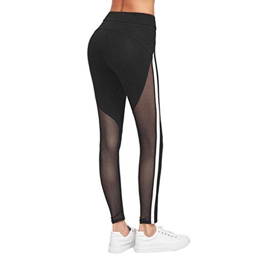 Yoga Hosen Damen Mädchen Yoga Leggings Hose Btruely Hohe Taille Sporthosen Yoga Workout Gym Pants Yoga Leggings Fitness Übung Ausbildung Hose (M, Schwarz 5) - 3