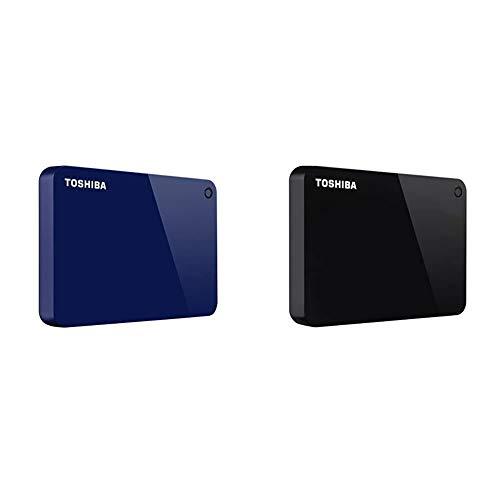 Toshiba Canvio Advance 1TB Portable External Hard Drive USB 3.0, Blue (HDTC910XL3AA) & Toshiba Canvio Advance 1TB Portable External Hard Drive USB 3.0, Black (HDTC910XK3AA)