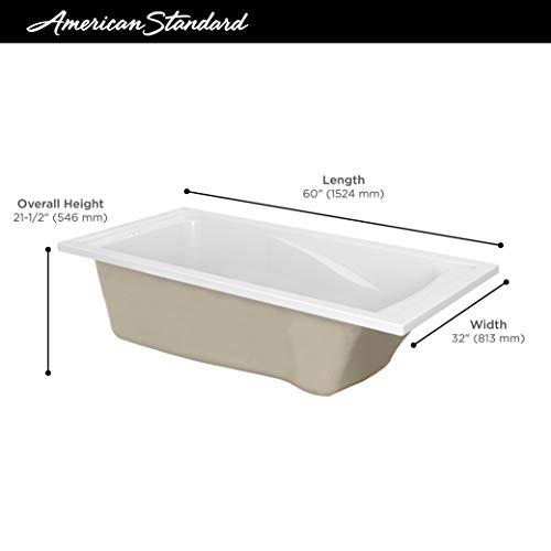 American Standard 2422V002.020 Evolution Acrylic 60-Inch X 32-Inch Drop-In Deep Soak Bathing Pool, Gal, White