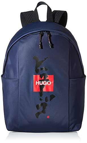 HUGO Herren Record KJ_Backpack Rucksack, Navy411, ONESIZE