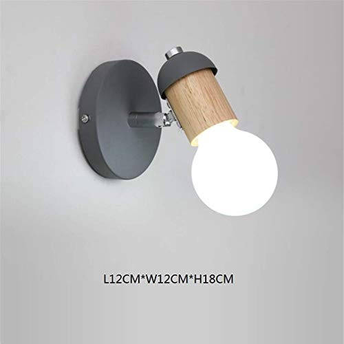 L-C plafond licht Scandinavische minimalistische massief hout grijs muur lamp creatief Aisle trap licht achtergrond muur decoratie houten nachtlampje slaapkamer wandlamp