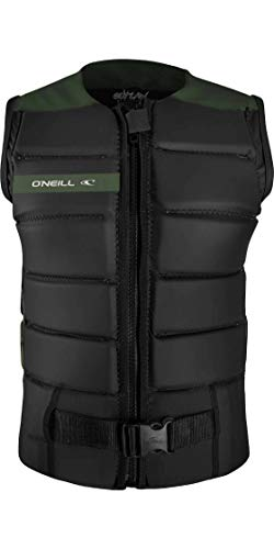 ONeill Hombre Outlaw Comp Watersports Waterski Jetski Wakeboarding Safety Impact Chaleco - Top - Negro Dark Olive