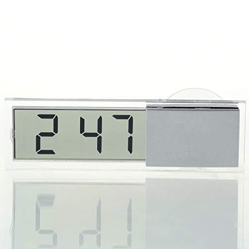 ukYukiko 1 stks Licht Gewicht Duurzaam Transparant Auto Elektronische Klok LCD Display Digitaal met Sucker Nieuwste LCD Horloge Klok