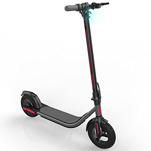 """SISIGAD Electric Scooter for Adults,10"""" Solid Tires, 26.2 Miles Long Range Battery, Folding Commuting Electric Scooters Adult, with Powerful 500W Motor Max Speed Up to 19MPH, UL2272 Certified"""
