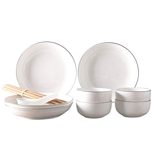 Kitchen Cutlery Set 16 Creative Kitchen Cutlery Set With White Ceramic Spoon And Chopsticks Color  White Size  One size