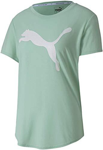 PUMA Damen Evostripe Tee T-Shirt, Mist Green, L
