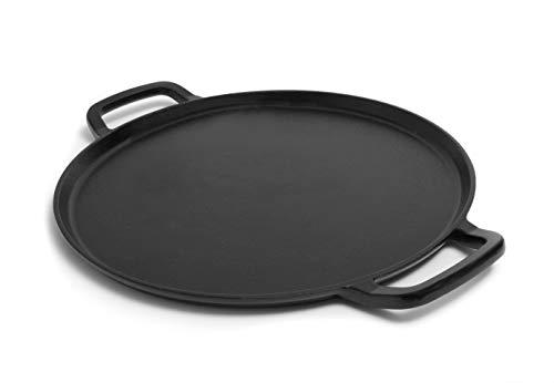 GURO Seasoned Cast Iron Pizza Baking Pan (14 Inch)
