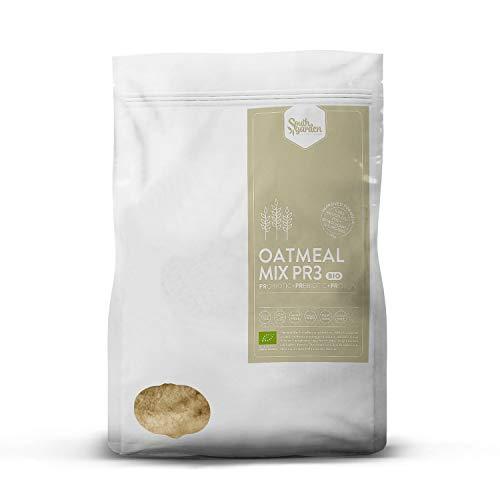 Protéines d'avoine en poudre bio 1 Kg | SOUTH GARDEN | Avoine express | 30% de protéines | Riz, pois et graines de citrouille | Végan | Sans gluten | Sans lactose | Sucre de coco