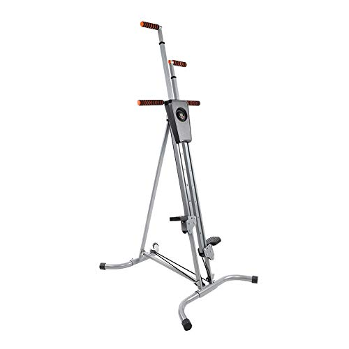 HURRISE Vertical Climber Exercise Bike, Sturdy Steel Frame 5 Position Adjustable Cardio Climbing Stepping Machine with LCD Display for Home Gym