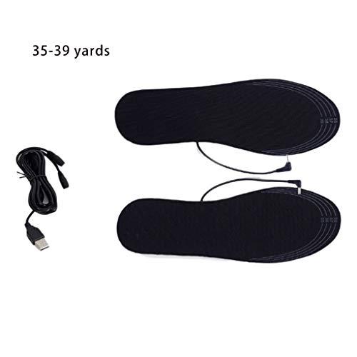JiACUO 1 paar heren dames unisex winter USB voeding elektrische Fai-da-Te verwarming inlegzolen voor warme voeten thermoschoenen wasbaar