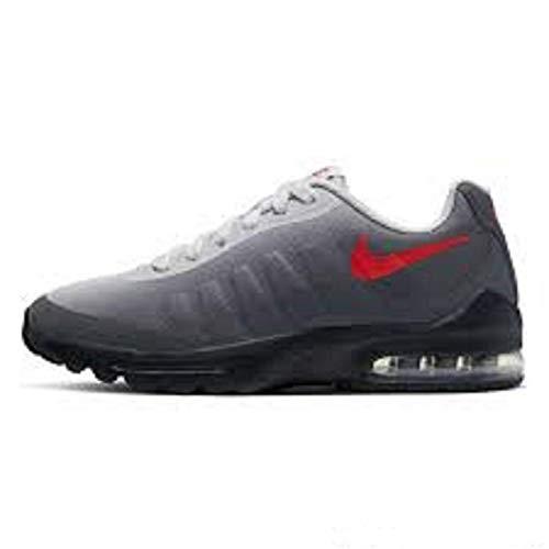 Nike Air Max Invigor Print Bg, Scarpe da Ginnastica Unisex-Adulto, Dark Grey/Bright Crimson/Vapste Grey/Black, 38.5 EU