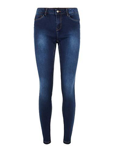 Vero Moda Vmseven MR S Shape UP J VI342 GA Noos Jeans, Dark Azul Denim, XXL para Mujer