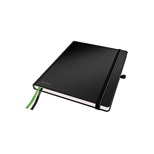 Leitz Hard Cover Notebook, 80 vel, Met 2 bladwijzers, 100 grams Ivoorpapier, Volledig bereik