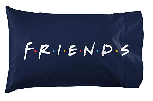 Friends Catchphrase 2 Pack Reversible Pillowcase - Super Soft Bedding (Official Friends Product)