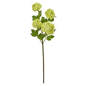 "Silk Flower Arrangements Unknown1 30"" Snowball Hydrangea Artificial Flower (Set of 3)"