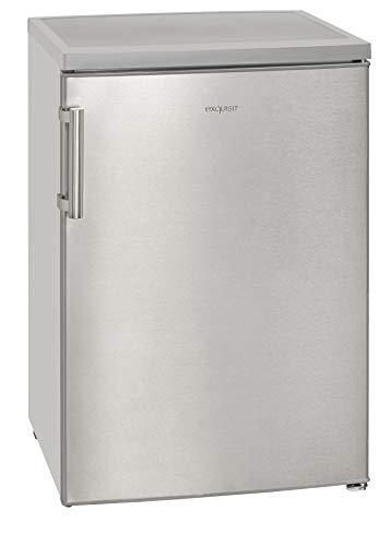 Exquisit Kühlschrank KS 16-1 A+++ Inoxlook |Standgerät | 119 L Nutzinhalt | inox