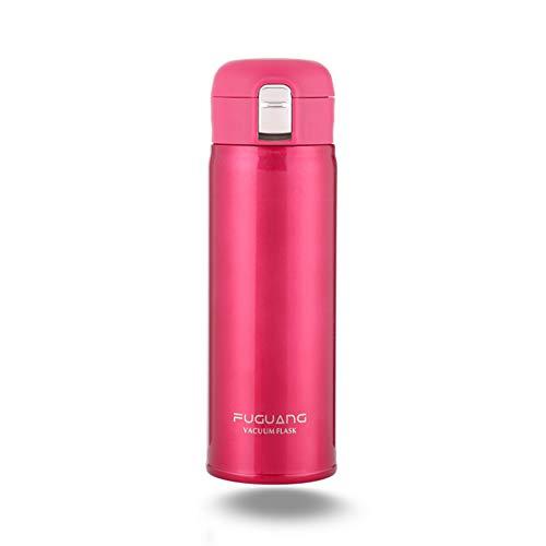 Sans BPA Kooyi Isotherme Sport bouteille deau avec de la paille 500 ml tasse de voyage en acier inoxydable