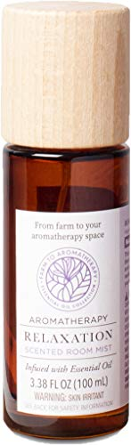 Farm to Aromatherapy Room Spray, Relaxation, Clean & Pure, Stress Relief, Promotes Wellness, Balance & Rest with Therapuetic Qualities, 3.3 Fl Oz.