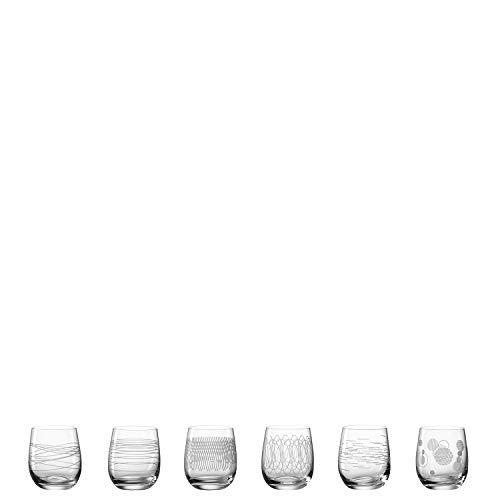 Leonardo Casella 061797 Lot de 6 verres à eau résistants aux chocs avec motifs Passe au lave-vaisselle 360 ml