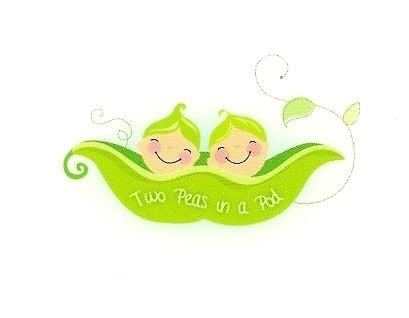 Two piselli in un Pod ~ Edible Icing immagine Cake Topper by Whimsical practicality